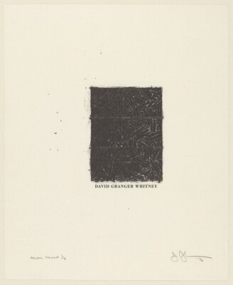 Untitled (Bookplate for David Grainger Whitney) [trial proof 1/3]