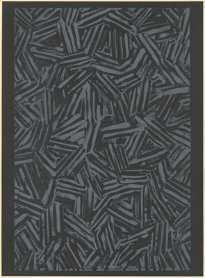 #1 (after Untitled 1975) [trial proof (black paper)]