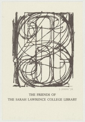 Bookplate for Sarah Lawrence [trial proof]