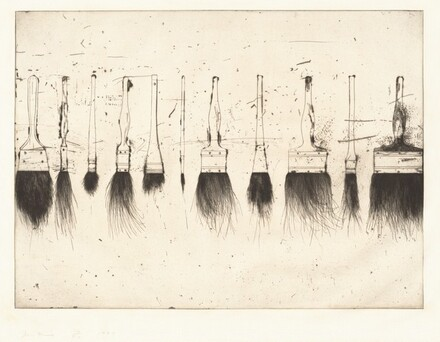Five Paintbrushes (second state)