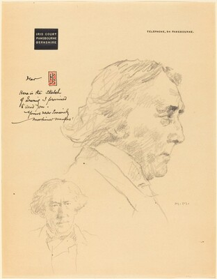 A Letter from Iris Court with Sketches of Henry Irving
