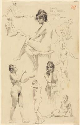 Nine Studies of a Female Nude
