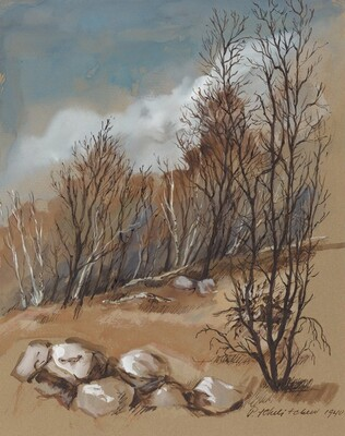 Landscape with Bare Trees