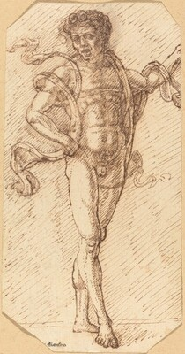 A Standing Male Nude (Parentino Imitation)