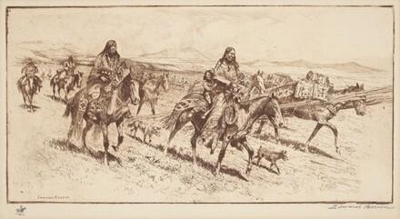 Blackfoot Women Moving Camp