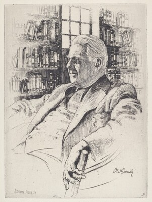 Untitled (Portrait of a Man in a Library)