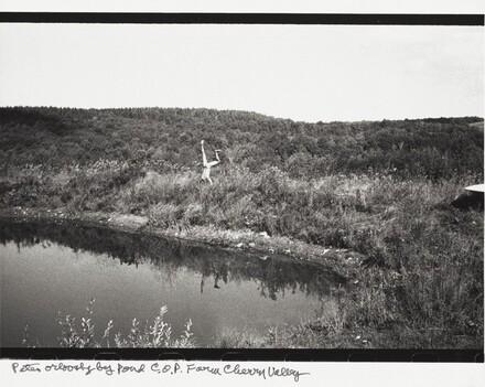 Peter Orlovsky by pond C.O.P. Farm Cherry Valley