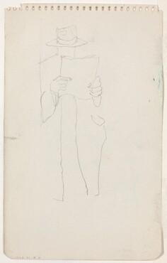 Standing Man Reading [verso]