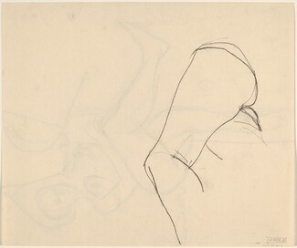 Untitled [study of legs and buttocks] [verso]