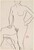 Untitled [standing female nude with left hand on hip] [verso]
