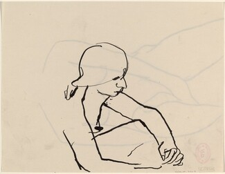 Untitled [seated female nude facing right] [verso]