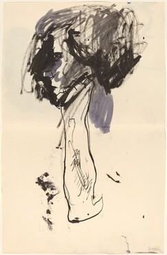 Untitled [profile of a woman] [verso]