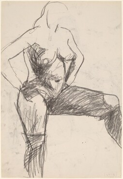 Untitled [female nude with arms akimbo and left leg raised] [verso]