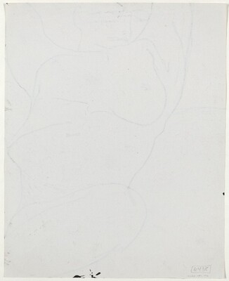 Untitled [standing nude holding a support with her left hand] [verso]