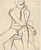 Untitled [seated female nude gazing to her left] [verso]