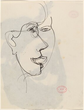 Untitled [head seen simultaneously from two points of view] [verso]