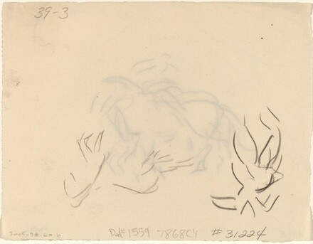 Circus Figure, Horse and Rider [verso]