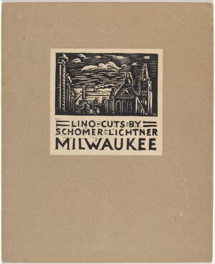 Cover for Milwaukee Portfolio of Lino-cuts
