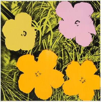 Flowers (gold, violet, yellow, green)