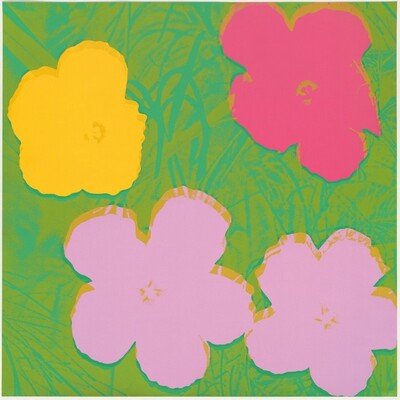 Flowers (violet, gold, red, green)