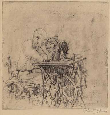 Untitled (Man at Sewing Machine)