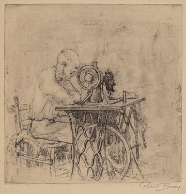 Untitled (Man at Sewing Machine)