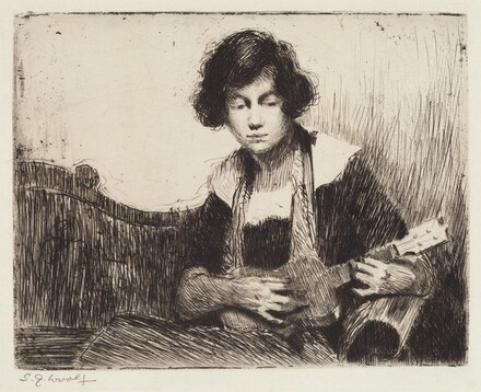 Untitled (Woman with Mandolin)