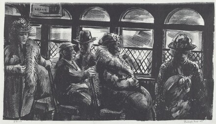 Riders on Street Car