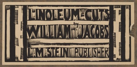 cover image (bottom) for Linoleum-Cuts by William Jacobs