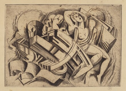 Untitled (Cubist Abstraction With Two Female Figures)