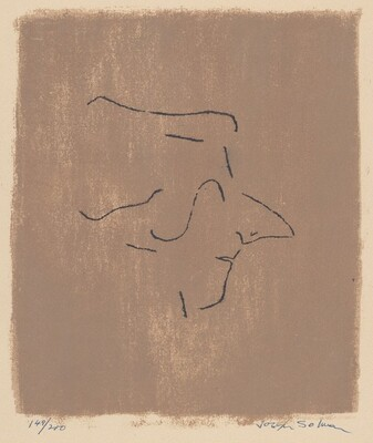 Untitled (Mozart Profile to Viewer's Right, on Brown Background)