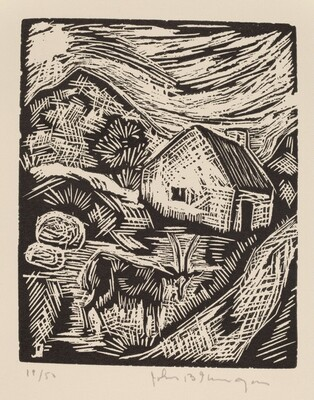 Untitled (Landscape With Goat)