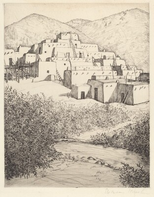 Untitled (Pueblo Scene, New Mexico)