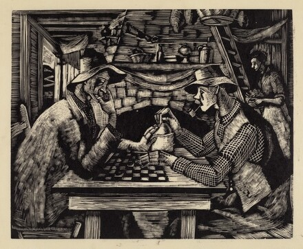 Untitled (Playing Checkers)