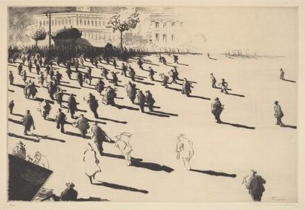 Untitled (Figures Heading Toward Subway)