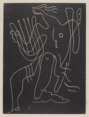 Untitled (Abstraction: Woman With Lyre)