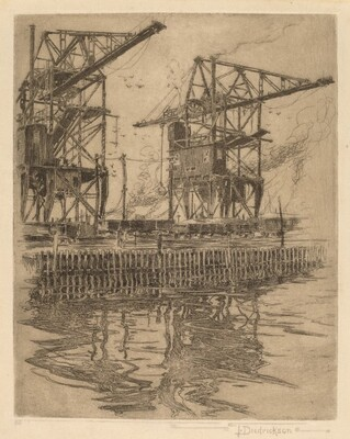 Untitled (Industrial Waterfront Scene)