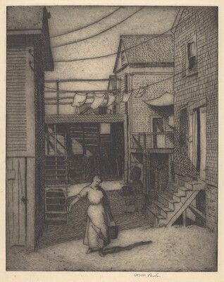 Untitled (Scene in Provincetown, Woman with a Bucket)