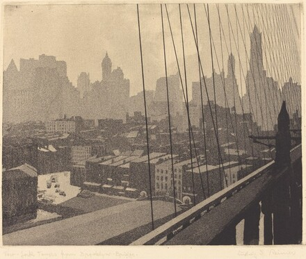 New York Towers from Brooklyn Bridge