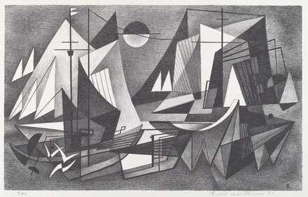 Untitled (Abstracted sailboats)