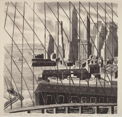 Lower New York from Brooklyn Bridge