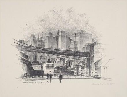 Brooklyn Bridge Enters Manhattan
