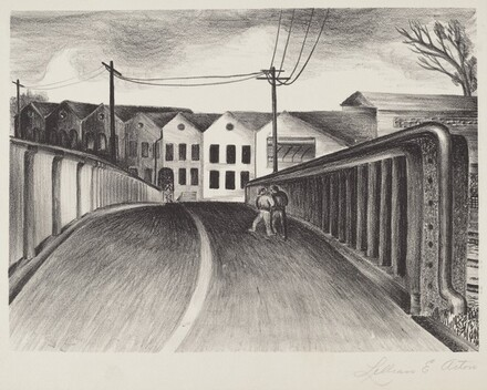 Untitled (Two Men on Bridge)