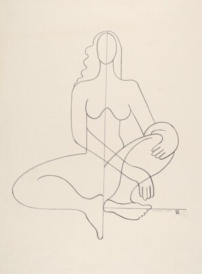 Abstraction (Seated Nude)