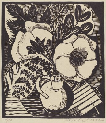 Untitled (Jug with Flowers and Leaves)