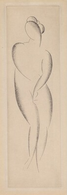 Untitled (Female Nude Standing)