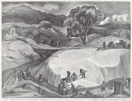 WPA Workers on Monument Creek