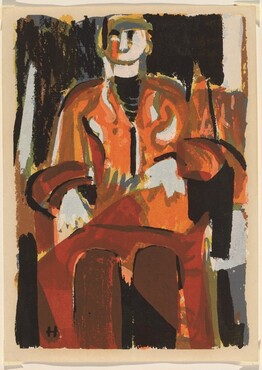 Untitled (Abstraction of seated figure)