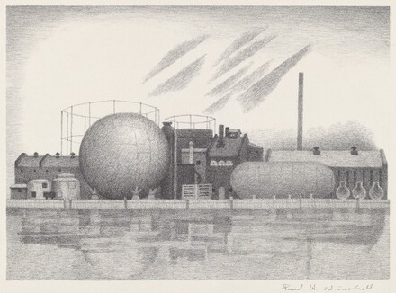 Untitled (Oil and Gas Tanks, Industrial Complex)