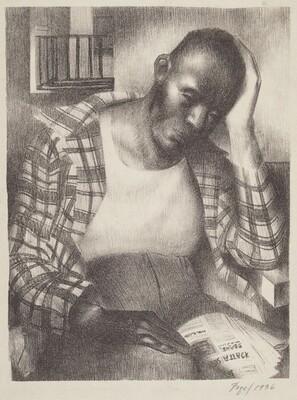 Seymour Fogel, Untitled (Pensive Black Man), 19361936